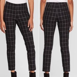 NWOT A New Day Black Plaid Skinny Ankle Pants 2